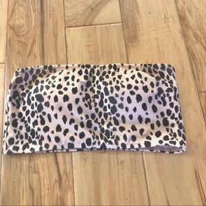 Cheetah Print Bandeau Bikini top